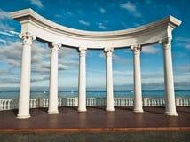 Colunas do grego clássico fotos de stock
