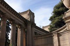 Colunas do palácio das belas artes Imagem de Stock Royalty Free