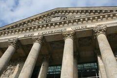 Colunas do parlamento alemão imagens de stock