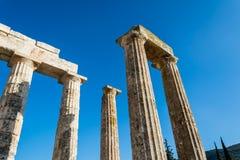 Colunas do templo antigo de Zeus fotos de stock