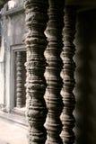 Colunas do templo de Angkor Wat Foto de Stock