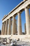 Colunas do templo do Partenon Imagens de Stock Royalty Free