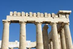 Colunas do templo do Partenon em Grécia Imagem de Stock Royalty Free