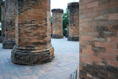 Colunas do tijolo Imagens de Stock Royalty Free