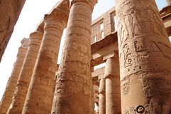 Colunas dos templos de Karnak Foto de Stock Royalty Free