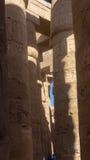 Colunas e no templo antigo fotografia de stock