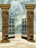 Colunas e portas ilustração do vetor