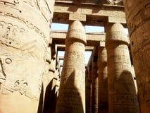Colunas egípcias antigas Fotos de Stock