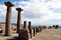 Colunas em Assos fotografia de stock royalty free