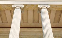 Colunas em Atenas, Grécia Imagem de Stock