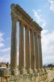 Colunas em Baalbek Foto de Stock Royalty Free