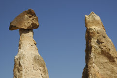Colunas em Cappadocia foto de stock