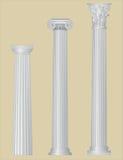 Colunas gregas com detalhes Foto de Stock Royalty Free