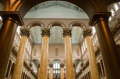 Colunas interiores Fotografia de Stock