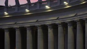 Colunas maravilhosas no quadrado de vatican video estoque