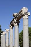 Colunas na ágora de Tetragonos Foto de Stock