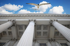 Colunas no céu Fotos de Stock Royalty Free