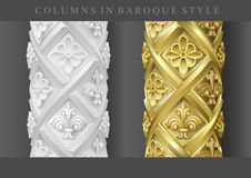Colunas no estilo barroco ilustração stock