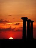 Colunas no por do sol Imagens de Stock