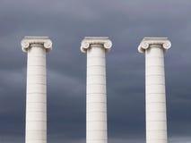 Colunas no quadrado de Espanya, Barcelona Imagem de Stock Royalty Free