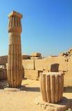 Colunas no templo do karnak imagem de stock royalty free