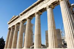 Colunas no templo do Partenon Imagens de Stock