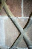 Colunas normandas com testes padrões Fotografia de Stock Royalty Free