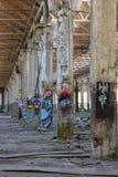 Colunas pintadas Imagem de Stock