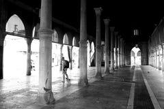 Colunas preto e branco em Veneza Fotos de Stock Royalty Free