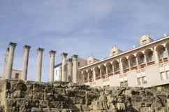 Colunas romanas de um templo Foto de Stock Royalty Free