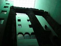 Colunas romanas em Barcelona Foto de Stock Royalty Free