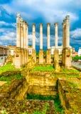 Colunas romanas em Córdova fotos de stock royalty free