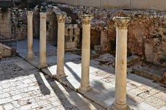 Colunas romanas em Jerusalem foto de stock royalty free