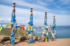 Colunas sagrados da sarja na ilha de Olkhon imagens de stock royalty free