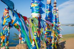 Colunas sagrados da sarja na ilha de Olkhon foto de stock royalty free
