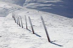 Colunas Snow-covered sobre a montanha de Stog Foto de Stock Royalty Free