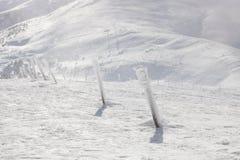 Colunas Snow-covered sobre a montanha o Stog Foto de Stock