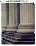 Colunas - transferência de imagem do Polaroid imagem de stock