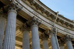 Colunata da catedral de Kazan Fotografia de Stock