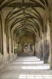 Colunata na faculdade do St. John, Cambridge, Foto de Stock Royalty Free