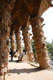 Colunata no parque Guell Fotos de Stock