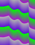 Colured Waves V. Colured waves form a purple, green and grey background Stock Photos