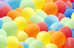 colurful气球的云彩 库存图片