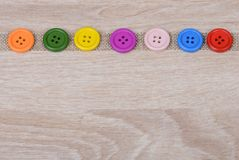 Colurful buttons Stock Photos