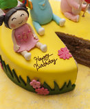 Colurful cute birthday cake Royalty Free Stock Image