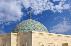 Colurful dome of a Mosque in bahrain Stock Images