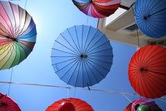 Colurful paraply Arkivbild