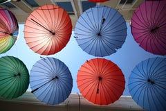Colurful paraply Royaltyfria Bilder