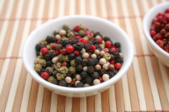 Colurful pepper seeds Royalty Free Stock Image