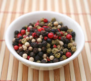 Colurful pepper seeds Royalty Free Stock Photography